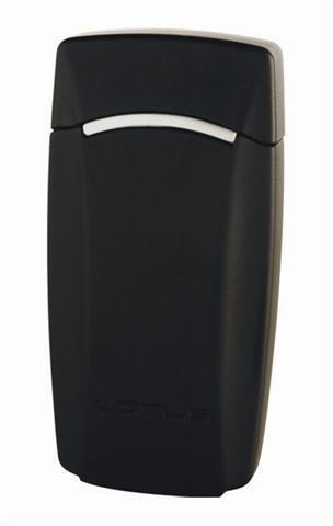 Lotus L1200 black matte & chrome velour Torch Flame Lighter
