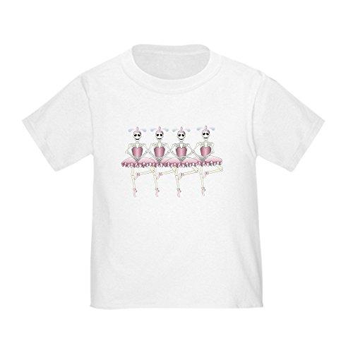 Truly Teague Toddler T-Shirt Dancing Ballarina Skeletons En Pointe - White, 4T ()