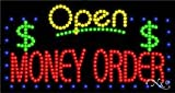 Money Order & Open - Ultra Bright LED Sign - 17'' x 32''
