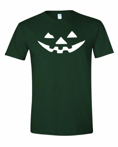 [Men's JACK-O-LANTERN. Halloween Pumpkin Smily Face Costume. T-Shirt-Forest Green-2X] (Forest Animal Halloween Costumes)