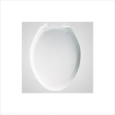 Bemis 7B1200SLOWT 078 Elongated Closed Front Plastic Toilet Seat with Cover , Beige new