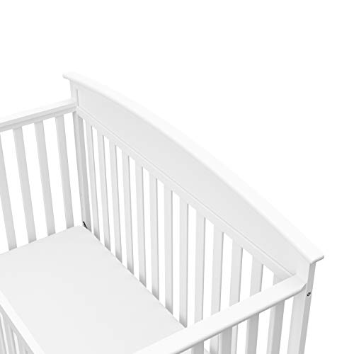 31mHFrvwhPL - Graco Benton 4-in-1 Convertible Crib, White, Solid Pine And Wood Product Construction, Converts To Toddler Bed Or Day Bed (Mattress Not Included)