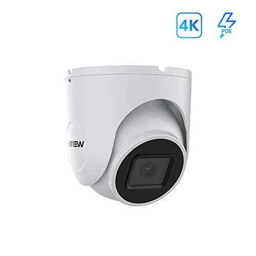 H.VIEW 4K UltraHD 8MP Outdoor Dome IP POE Camera,3840×2160,3.6mm Fixed Lens,115ft NightVision,IP67 Weatherproof,Built in one Way Audio,H.265,Compliant with Hikvision,Support Onvif (HV-E800D)