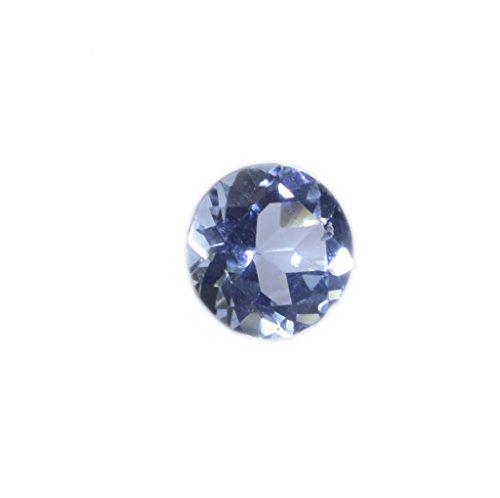 topaze bleue pierre lâche ronde à facettes 1 pc 6.5x6.5mm stbto-10022
