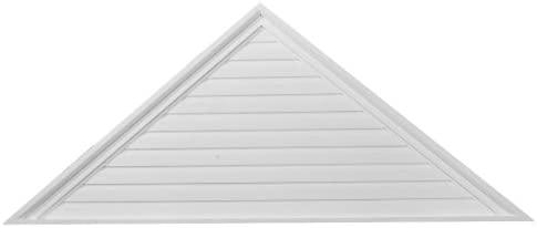 Ekena Millwork GVTR72X18D 72-Inch W x 18-Inch H x 2 1/8-Inch P Pitch 6/12 Triangle Gable Vent, Decorative by Ekena Millwork