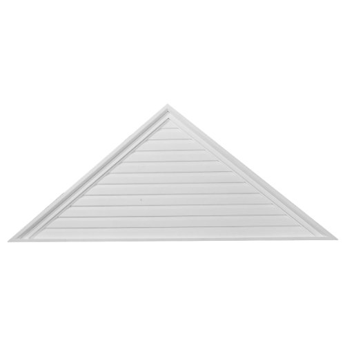 (Ekena Millwork GVTR65X32F 65-Inch W x 32 1/2-Inch H x 2 1/4-Inch P Pitch 12/12 Triangle Gable Vent, Functional)