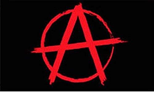 (Anarchy Flag Protest Banner Hippie Pennant 3x5 Anarchist Symbol Punk Rock New)