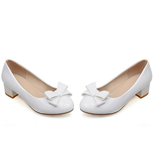 TAOFFEN Court Shoes Slip Women's White On TfqTrz
