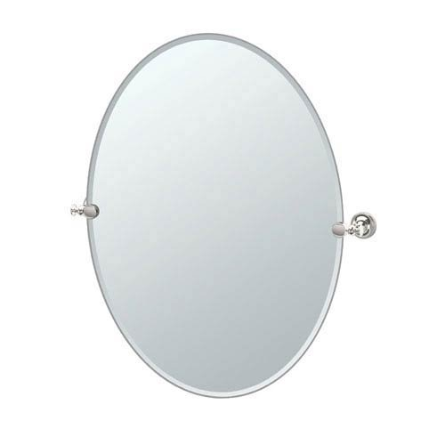 Gatco 4129LG Tavern Large Oval Mirror, Polished Nickel ()