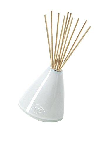 Reed Diffuser Tea Time Alixx - Incredible Scent With Hints of Basil, Lemon and Tea Leaves, Hand Blow Beautiful Vase/Glass by Alixx