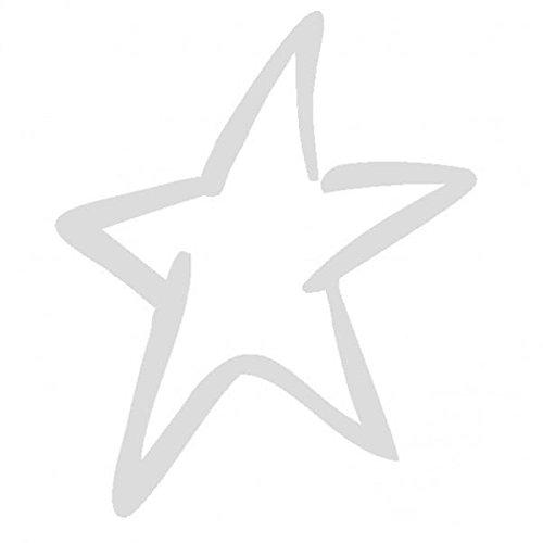 Stella Colore Argento 20cm Adesivo Prespaziato