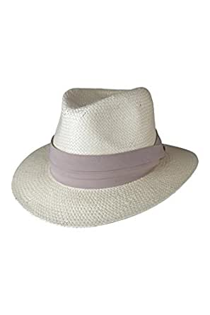 Morgan and Taylor Lane Fedora with a beige trim