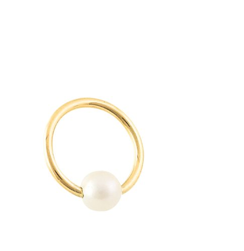 Solid Gold Captive Bead Ring - 5