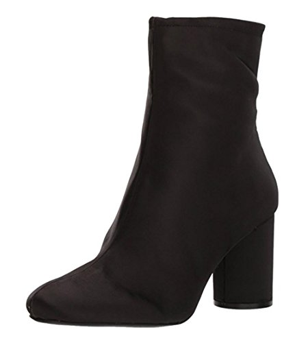 - Jessica Simpson Women's MERTA Fashion Boot, Black Satin, 8.5 Medium US