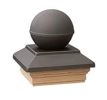 GK Collection - Embellecedor para postes Topline (diseño esférico, acero inoxidable, 9 x 9 cm): Amazon.es: Bricolaje y herramientas