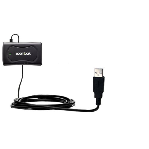Gomadic Hot Sync and Charge Straight USB cable Compatible with Zoombak Advanced GPS Universal Locator - Charge and Data Sync with the same cable. Built with TipExchange Technology ()