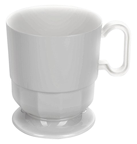 Exquisite White Premium Plastic Coffee Cups - 8 oz Coffee Mug - White Tea Cup - 192 - Count ()