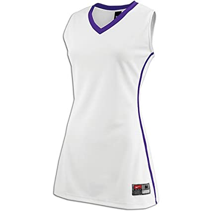 low priced 9f15e f830d Amazon.com : Nike Front Court Game Jersey (XXL, white/purple ...
