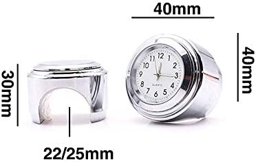 TiooDre 7//8Moto Guidon Monte Horloge /à Quartz Montre /étanche Horloge Guidon Moto Universelle Horloge de Voiture Tableau de Guidon