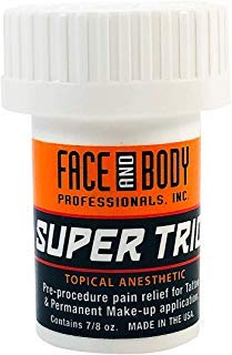 Face and Body Super Trio Topical Pre-Procedure Anesthetic Numbing Cream Tattoo Anesthetics 7/8 oz]()