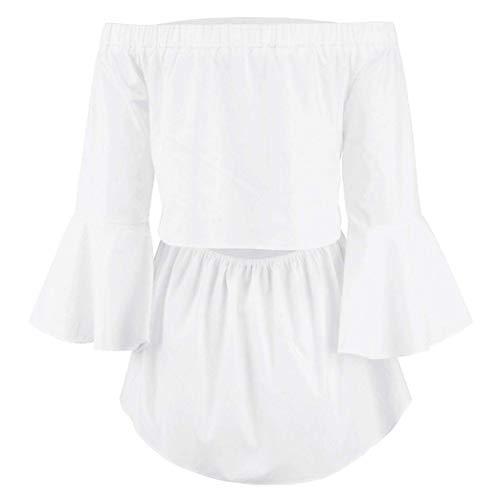 Shoulder Style Manche Blanc Haut Automne Blouse Uni Loisir Jeune Elgante Carmen Manches Long Fille Off Shirts Mode Spcial Tendance Printemps Blouse Femme 6ntqWaCtw