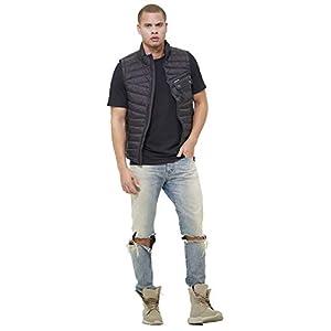 Members Only Men's Puffer Vest, Black, M