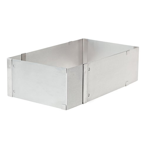 Ateco 12070 Adjustable Rectangle Cake Mold, Stainless Steel