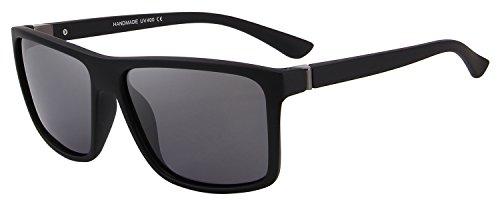 Merry Men (MERRY'S Men Polarized Sunglasses Fashion Male Sun glasses 100% UV Protection S8225 (Matte Black, 58))
