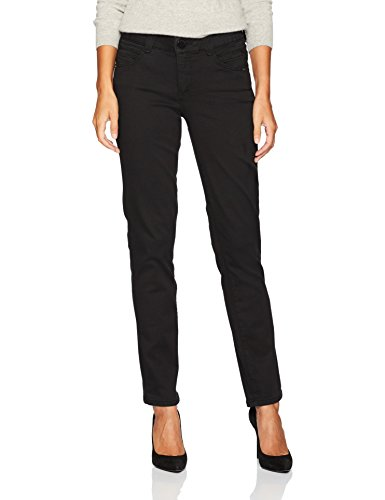 Democracy Women's Ab Solution Straight Leg Jean, Black, 4