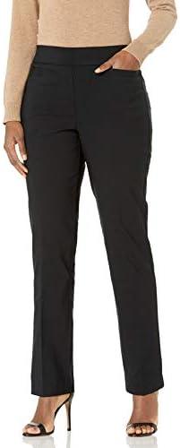 Black Briggs New York Womens Super Stretch Millennium Welt Pocket Pull on Career Pant 10
