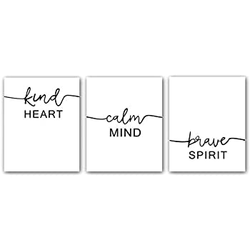 Motivational Words Typography Artwork Quotes and Saying Art Prints,Set of 3 Art posters(8