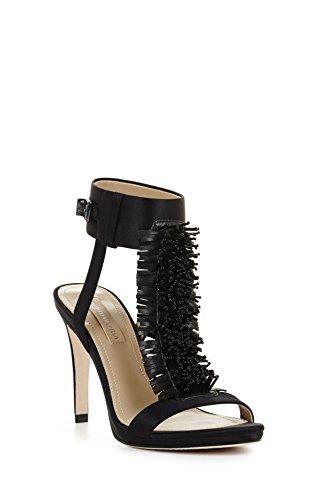 Bcbg Max Azria Womens Limbo Nero Sandalo Con Tacco A Perline Con Tacco Alto
