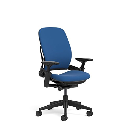 Steelcase Leap Task Chair: Black Base - 4D Adjustable Arms -
