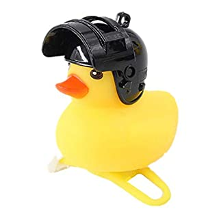 NATIVEUSO Rubber Duck Toy Car Bath Toy Ornaments Yellow Duck Car Dashboard Decorations with Helmet for Adults,Women,Men (F)