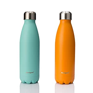 NAVIGATE Insulated Water Bottle Stainless Steel, Double Walled Vacuum Sealed Sports Flask Thermos|Keep Your Drink Hot & Cold