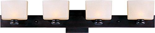 [Maxim Lighting 9004DWOI Essence-Bath Vanity Essence 4-Light Bath Vanity] (Platinum 4 Light Vanity Lamp)