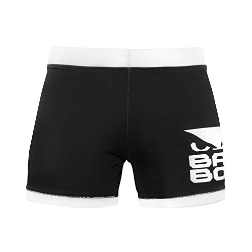 Bad Boy Original Polyester Competition MMA Mixed Martial Arts Vale Tudo Shorts (Large) Black