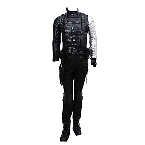 CosplayDiy Men's Suit for The Winter Soldier Barnes Cosplay Costume XL Black]()