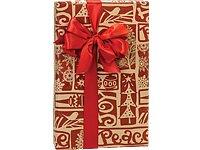 Item#44343 - 16-Ft Woodcut Christmas Christmas Gift Wrap (Christmas Woodcut)