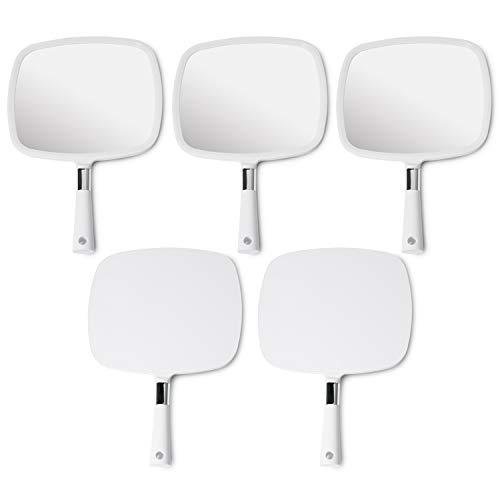 (Mirrorvana Large & Comfy Hand Held Mirror (White), Bulk Pack of 5)
