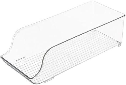 FuLanDe - Bandejas organizadoras cocina apilables para frigorífico - Ahorra espacio en el congelador cajas almacenamiento y organizador de armario bandejas ...