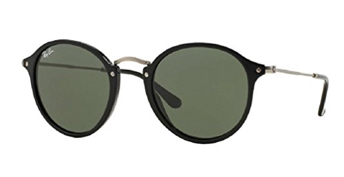 Ray-Ban Acetate Man Sunglasses - Black Frame Green Lenses 52mm - Prescription Ban Ray Lenses