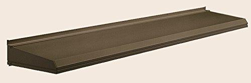 キャピア A型 ユニットひさし 呼称:13303 W:1,580mm × D:350mm 製品色:ブロンズⅢ艶消(F) 標準仕様(先付) LIXIL リクシル TOSTEM トステム B0752DR13Q 標準仕様(先付) ブロンズⅢ艶消(F)
