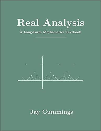 Amazon com: Real Analysis: A Long-Form Mathematics Textbook