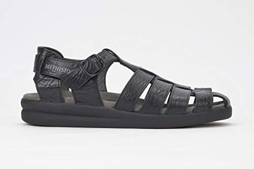 (Mephisto Men's Sam Sandals Black Leather 11 M US)