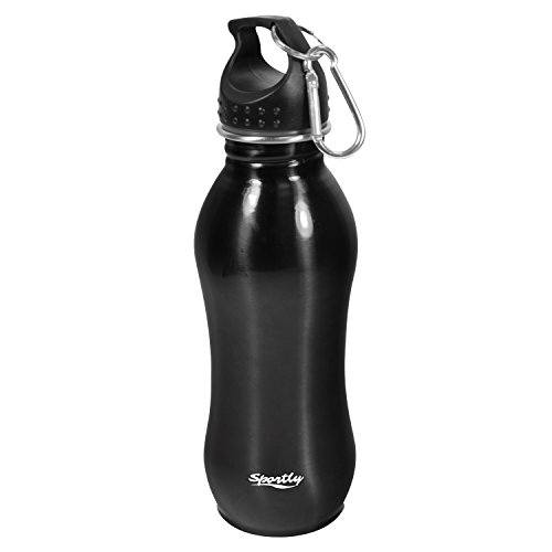 Sportly-24-Oz-Stainless-Steel-Sports-Water-Bottle--9--Inch-Height-Slim-Easy-Grip-Design-Standard-Mouth-with-Leak-Proof-Top