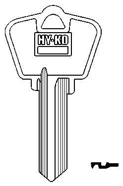 Hy-Ko Key Blank Cylinder Arrow Ez# Ar4 Single Sided 10 Pc / Bag Upc (Arrow Key Blanks)