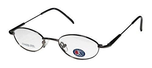 Little League Baseball Dugout Boys/Girls/Kids Flexible Hinges Eyeglasses (44-18-125, Gunmetal)