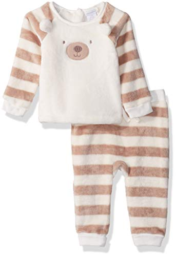 absorba Baby Boys 2 Pieces Jog Set, Silent Vanilla/Pettite Grain, 6-9 Months ()