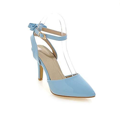 ZHZNVX Zapatos de Mujer PU (Poliuretano) Spring & Summer Comfort Heels Stiletto Heel Green/Blue / Pink Blue